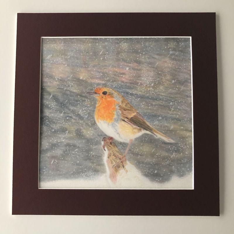 'Winter Robin' Original Artwork