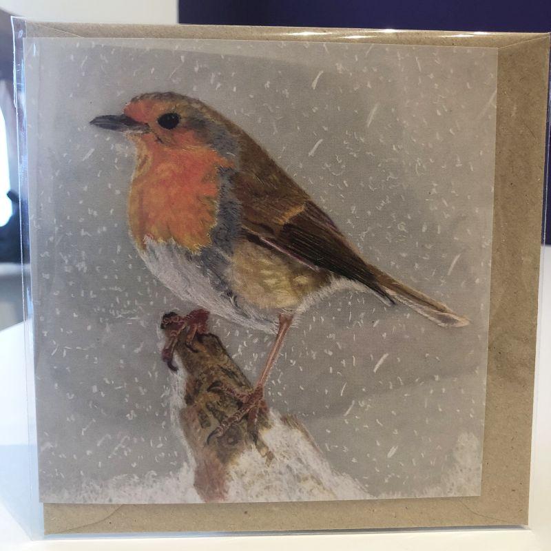 'Winter Robin' Card (Daytime)